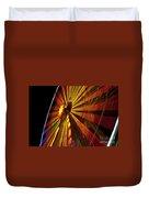 Ferris Wheel At Night Duvet Cover