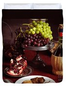 Festive Dinner Still Life Duvet Cover by Oleksiy Maksymenko