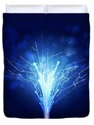 Fiber Optics And Circuit Board Duvet Cover