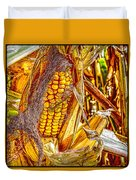 Field Corn Ready For Harvest Duvet Cover