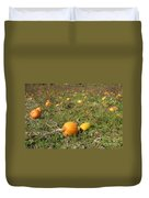 Field Of Pumpkins Duvet Cover