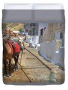 Fira - Santorini Duvet Cover