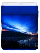 First Light At The Lake Duvet Cover