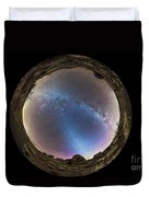 Fish-eye Panorama Of Milky Way Duvet Cover