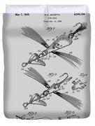 Fish Lure Patent 1933 Duvet Cover