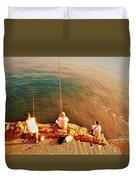 Fishermen In Beirut  Duvet Cover