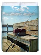 Fishin' Pole Duvet Cover