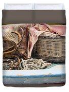 Fishing Baskets Duvet Cover