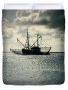 Fishing Boat Duvet Cover