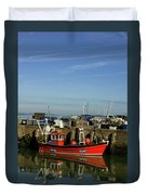 Fishing Boats At Whitstable Harbour 02 Duvet Cover
