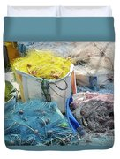 Fishing Industry In Limmasol Duvet Cover