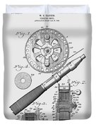 Fishing Reel Patent 1906  Duvet Cover