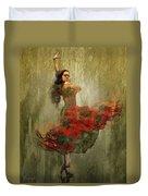 Flamenco In Red Duvet Cover