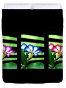 Floral Triptych Duvet Cover