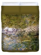 Florida Alligator Duvet Cover