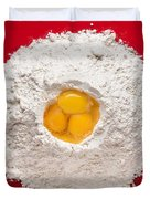 Flour And Eggs Duvet Cover