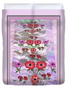 Flower Mania Anemone Fantasy Wave Design Created Of Garden Colors Unique Elegant Decorations Duvet Cover