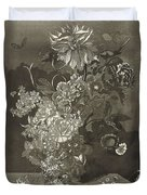 Flower Of The Peony, Cj Crumb, 1700 - 1800 Duvet Cover