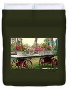 Flower Wagon Duvet Cover