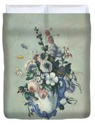 Flowers In A Rococo Vase Duvet Cover