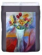 Flowers In Vase Vii Duvet Cover