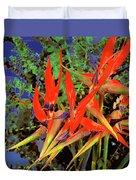 Flowers Of Paradise Duvet Cover