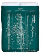 Flute Patent Drawing 2f Duvet Cover