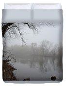 Foggy River  Duvet Cover