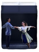Folk Dancing  Duvet Cover