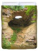 Fonferek Glen Rock Bridge And Falls Duvet Cover