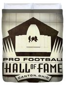 Football Hall Of Fame #1 Duvet Cover