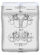 Football Shoulder Pads Patent 1913 Duvet Cover