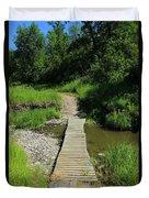 Footbridge Over A Creek Duvet Cover