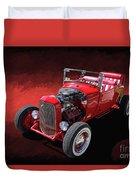 Ford Hot Rod Roadster Duvet Cover