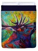 Forest Echo - Bull Elk Duvet Cover
