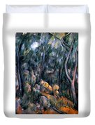 Forest In The Caves Above The Chateau Noir Duvet Cover