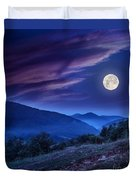 Forest On A Steep Mountain Slope Duvet Cover