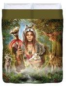 Forest Wolves Duvet Cover