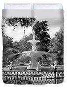 Forsyth Fountain Park Duvet Cover