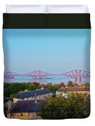 Forth Bridge, Scotland Duvet Cover
