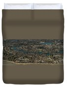 Foster City, California Aerial Photo Duvet Cover