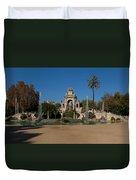 Fountain In A Park, Parc De La Duvet Cover