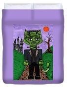 Frankenstein Cat Duvet Cover