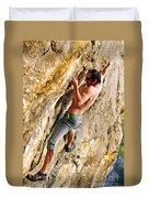 Free Climber Duvet Cover