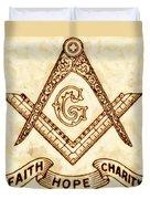 Freemason Symbolism By Pierre Blanchard Duvet Cover