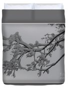 Fresh Snow On Magnolia Tree Duvet Cover