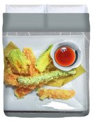 Fried Shrimps Tempura Duvet Cover