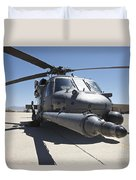 Front View Of A Hh-60g Pave Hawk Duvet Cover
