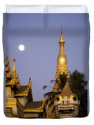 Full Moon In Burma Duvet Cover