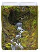 Streaming Through Rainforest Rubble Duvet Cover
